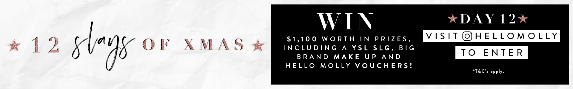 Win $1,100 worth of goodies!